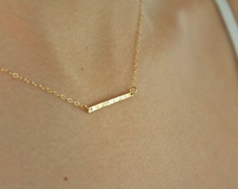 Gold Bar Necklace, Gold Necklace, Dainty Gold Necklace, Gold Jewelry, girlfriend gifts for her, best friend gifts birthday gifts Mothers day