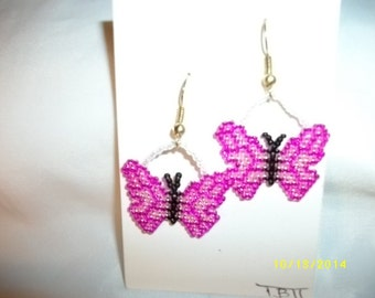 2 Tone Butterfly Earrings