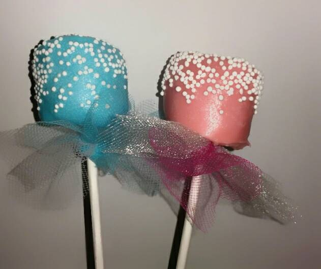 chocolate marshmallow pops baby shower favor by keekasweetreat