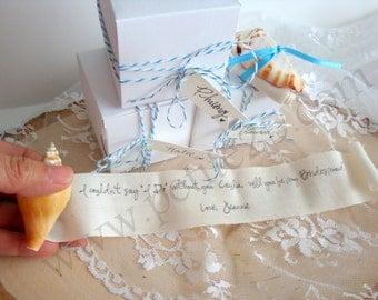 Seashell Secret Message - Will you be my bridesmaid, bridesmaid invitation, maid of honor beach destination wedding