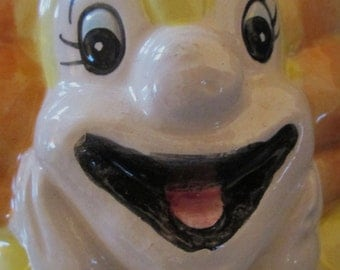 Vintage Bozo the Clown Ceramic Planter/Vase.  Made in Japan. Bozo the Clown.  Y-270