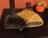 FOR MELISSA--Chunky Loop Scarf in Mustard & Medium Charcoal
