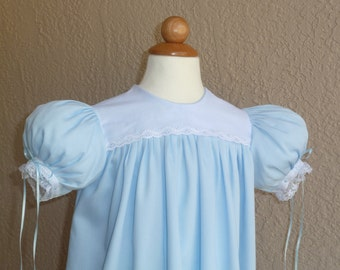 Girls Pique Classic High Yoke Dress