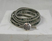 E608 Talisman Wrap Around Bracelet Aventurine