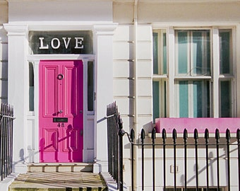 Valentines Day, London photography, love, door photography, pink, London art print