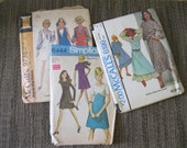 Vintage 60's Misses' Size 8 Lot Of 3 Sewing Patterns