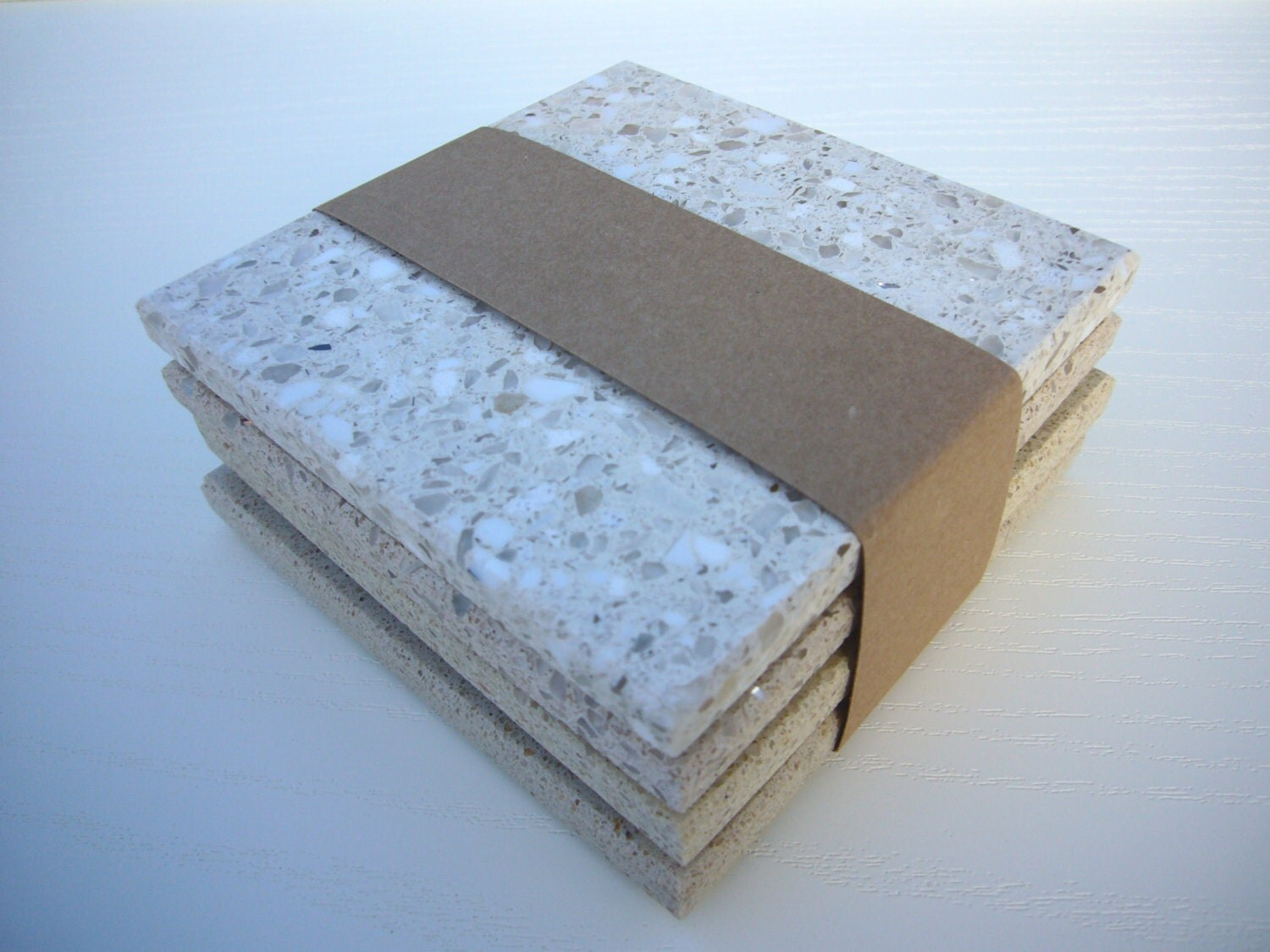 4 Speckled Stone Coasters Modern Coasters Drinks Stand