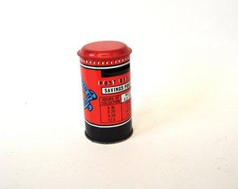 Vintage Tin Post Box Coin Box Royal Souvenir