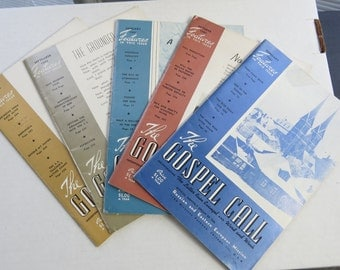 Five Different 1940's The Gospel Call Magazines Ideas For Sermons