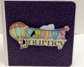 Enjoy the Journey scrapbook premade pages chipboard book-5 x 5 scrapbook album celebrate life