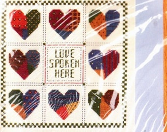 Love Spoken Here no.1675 From The Creative Circle Cross Stitch Kit