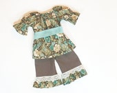 Girls RUFFLE PANTS OUTFIT Size 6mo to 8 Boutique Outfit 6mo 9mo 12mo 18mo 24mo 2T 3T 4T 5 6 7 8
