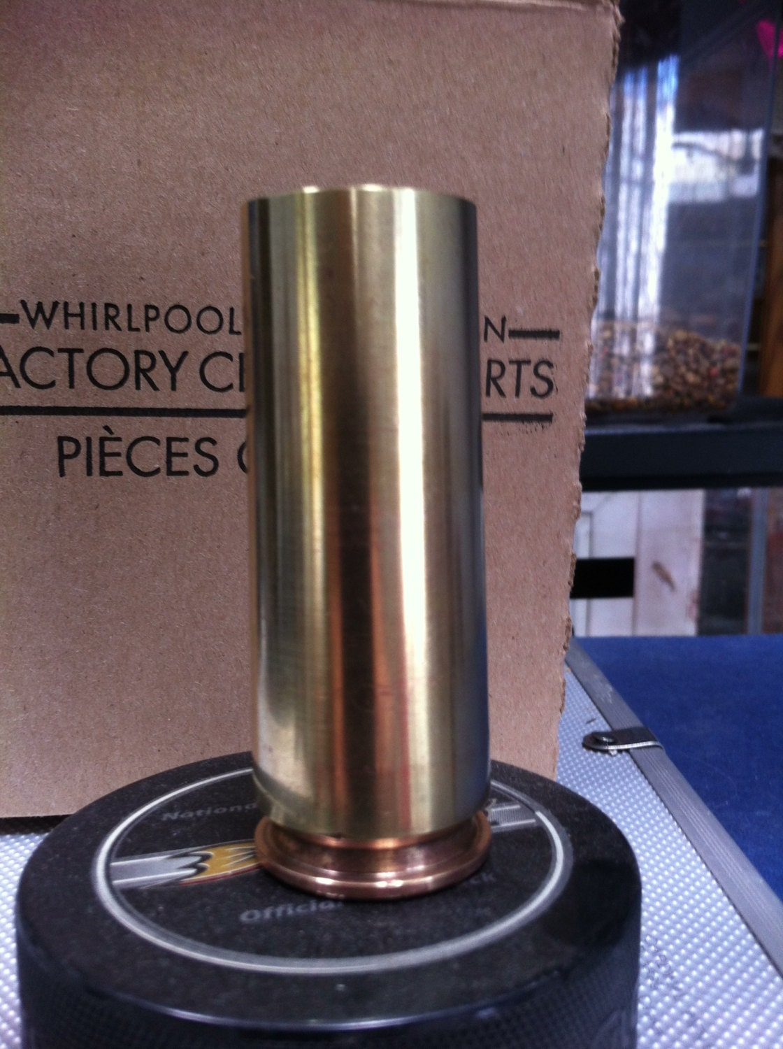 Bullet shot glass hand made from 20mm brass by mamabearsgoodies