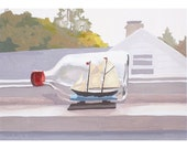 "5x7"" print - still life - ""Ship in a Bottle"""