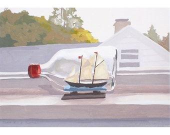 "5x7"" print - still life - ""Ship in a Bottle"""