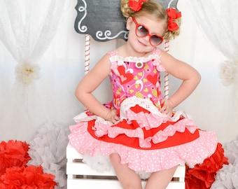 Sweet as Sugar girls Valentine's dress