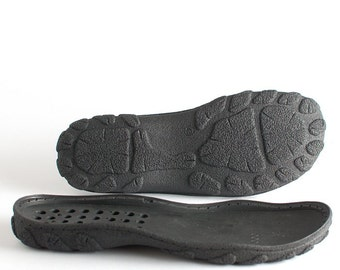 Black PU soles for your own shoemaking projects - Supply for shoes, snow boots - mens big sizes