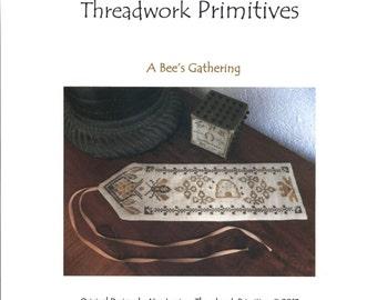 Threadwork Primitives: A Bee's Gathering - Cross Stitch Pattern