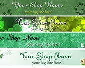 Premade Irish St. Patrick's Day Holiday Banner and Avatar - You Pick One