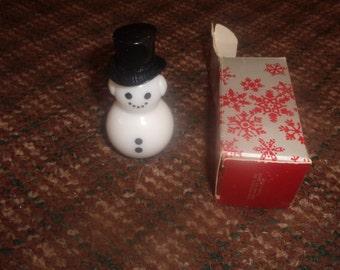 vintage avon perfume bottle dapper snowman sweet honesty cologne full