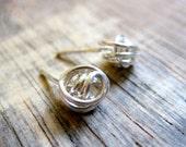 Little Messy Knots-Sterling Silver Wire Wrapped Handmade Earrings-100%  Handmade-Wire Wrapped Stud Earrings