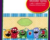 Monster Spray label