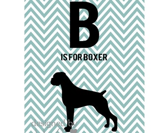 B is for Boxer Printable art