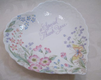 Vintage Mikasa -Candy Dish- Bone China - A Special Thank You - B2030 - Narumi Japan