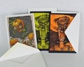 Postcards mini posters greeting card set heavyweight original art cards monster creepy fantasy cards