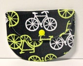 Yellow Bicycles Pacifier Pouch