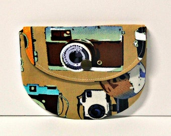 Retro Cameras Pacifier Pouch, Pacifier Pouch, Pacifier Holder, Coin Purse, Small Wallet, Card Holder, Small Wallet, Binky Pouch