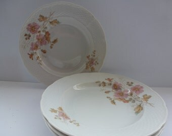 TK Thun Czechoslovakia China Antique Flowered China Bowls 4 Antique TK Thun China