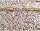 Baby blanket - lace blanket - crochet blanket- crochet lace- baby afghan- ivory lace- white blanket- pram blanket- vintage style blanket