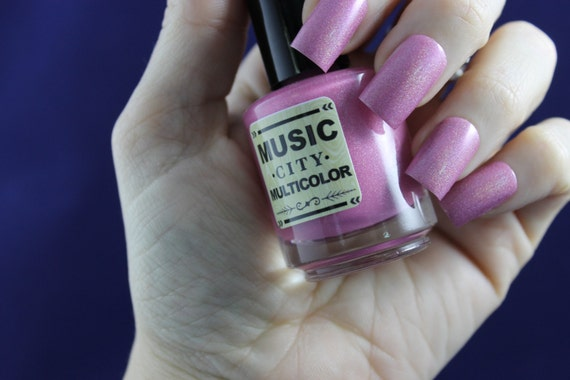 Printer's Alley Pink- Music City Multicolor nail polish- pink holographic- Nashville