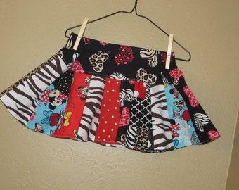 Disney 2t, 3t, -  Animal Kingdom skirt - ready to ship - Minnie - Miss Mouse