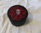 Skull In A Spiderweb Keepsake Stash Box