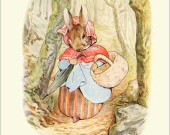 PETER RABBIT  Art Card  Vintage Beatrix Potter Reproduction