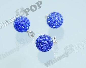 Round Polymer Clay Grade A Rhinestone Crystal Rhinestone Charm Pendant, Round Rhinestone Ball Charm, 12mm (3-3D)