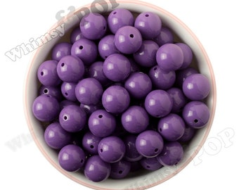 16mm - Purple Gumball Beads, Chunky Gumball Beads, 16mm Gumball Beads, 16mm Chunky Beads, 16mm Beads, Bubblegum Beads, 2mm Hole