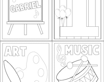 Art and Music Coloring Book Favor