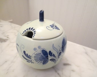 Blue Delft Hand Pinted Jam Pot