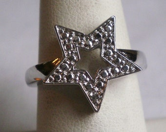 Sterling Silver Star Ring-Size 7 1/4