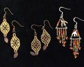 Earthy color seed bead earrings