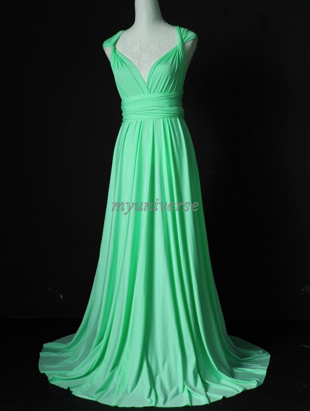 Convertible Dress Mint Pastel Green Bridesmaid Dress Infinity