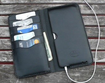 iPhone 6  Plus -  Leather Wallet, No. 75, Black  Leather Case  - by GARNY  - bl