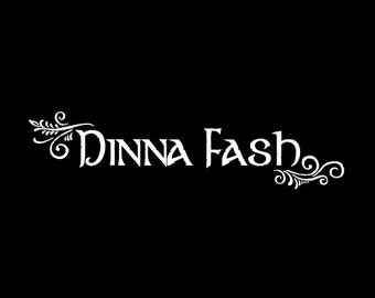 Dinna Fash vehicle decal