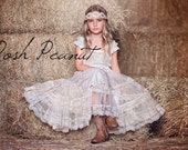 champagne flower girl dress, lace baby dress, flower girl dress, country flower girl dress, lace flower girl dress, rustic flower girl dress