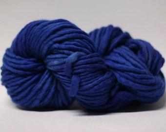 Single Ply sp Super Bulky Yarn  Hand dyed Merino 44sp14007 Dark Blue