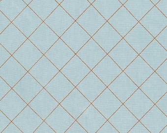 Doe Crisscross in Sky, Carolyn Friedlander, Robert Kaufman Fabrics, 100% Cotton Fabric, AFR-15023-63 SKY