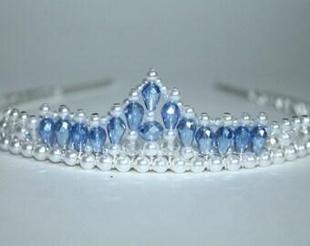 Something Borrowed and Something Blue Tiara, Bridal Tiara, Flower Girl Tiara